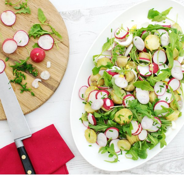 New Potato, Rocket and Radish Egg Salad [vegetarian] by The Flexitarian