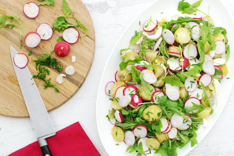 New Potato Radish Egg Salad [vegetarian] by The Flexitarian