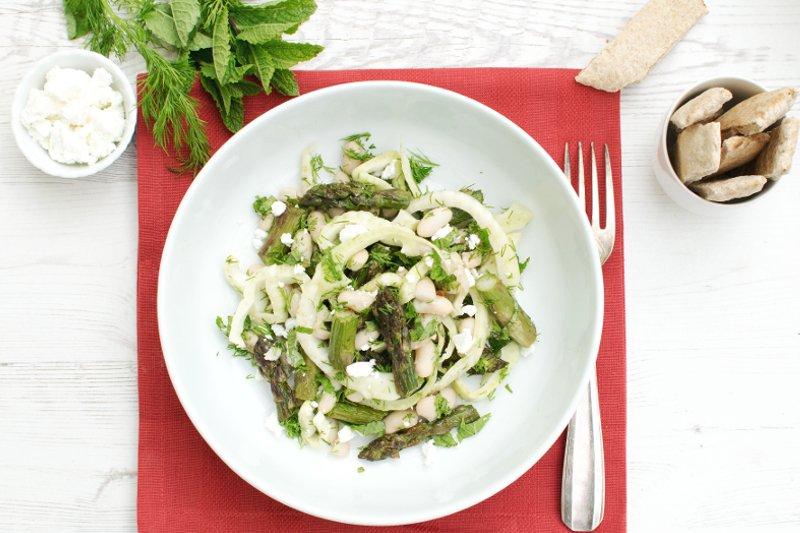 Asparagus & Fennel Bean Salad [vegetarian] by the Flexitarian