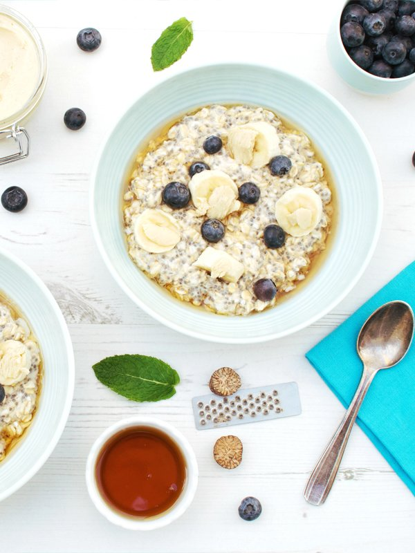 Blueberry & Banana Overnight Oats [vegan] [gluten free] © The Flexitarian - Annabelle Randles