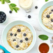 Blueberry & Banana Overnight Oats [vegan] [gluten free] by The Flexitarian