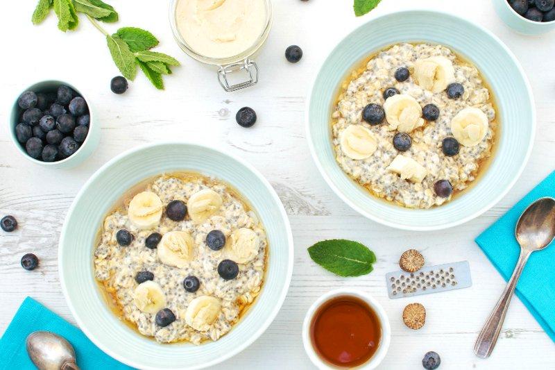 Blueberry & Banana Overnight Oats [vegan] [gluten free]