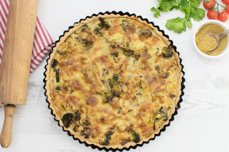 Curried Broccoli & Leek Quiche [vegetarian] [gluten free] by The Flexitarian