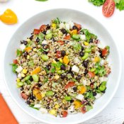 Quinoa Confetti Salad [vegan] via The Flexitarian
