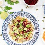 Rainbow Quinoa Buddha Bowl with Ginger Tahini Dressing [vegan] [gluten free] by The Flexitarian