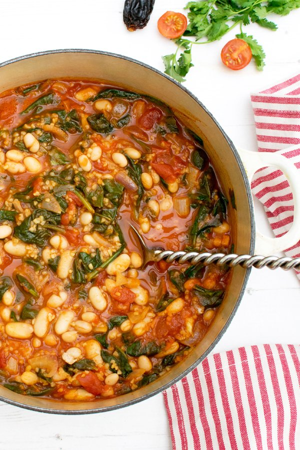 Spinach & Beans Chipolte Stew [vegan] by The Flexitarian