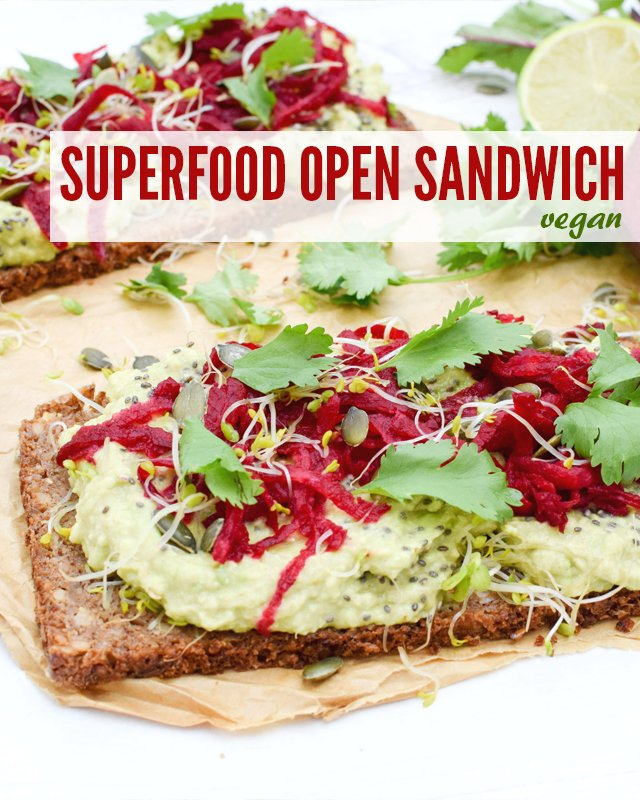 Superfood Open Sandwich [vegan] by The Flexitarian v9