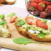 Avocado, Strawberry & Goat Cheese Tartines [vegetarian] by The Flexitarian