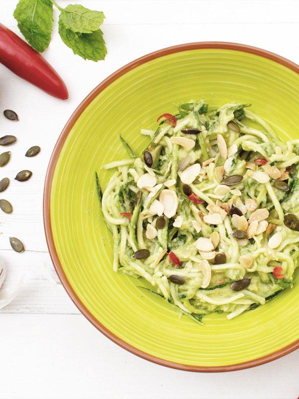 Creamy Avocado & Courgette Salad [vegan] © The Flexitarian - Annabelle Randles