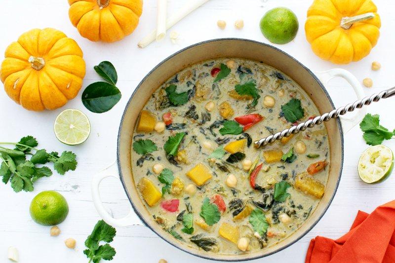 Thai Green Pumpkin Curry [vegan] [gluten free] by The Flexitarian