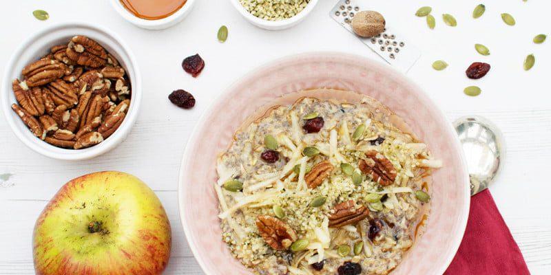 Apple & Cranberry Hemp Porridge [vegan] [gluten free] by The Flexitarian