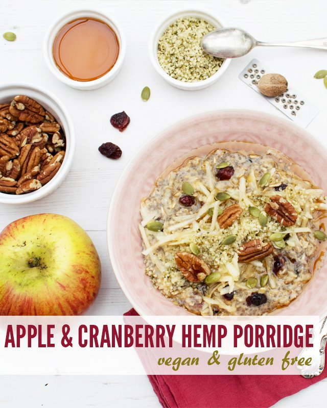 Apple & Cranberry Hemp Porridge [vegan] [gluten free] by The Flexitarian