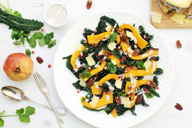 Roasted Butternut, Kale & Comté Salad [flexitarian] [gluten free] by The Flexitarian