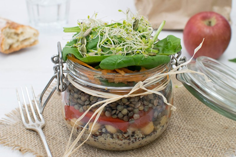 High Protein Salad In A Jar [vegan] [gluten free] by The Flexitarian