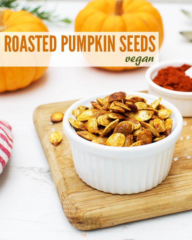 Roasted Pumpkin Seeds [vegan] by The Flexitarian