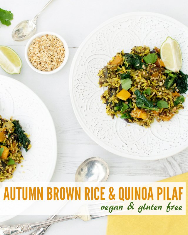 Autumn Brown Rice & Quinoa Pilaf [vegan] [gluten free] by The Flexitarian