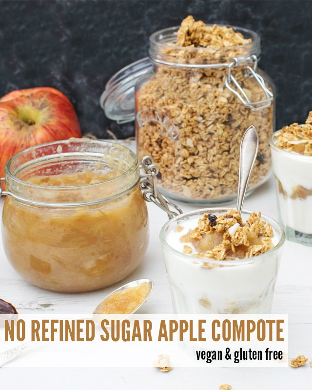 Apple Compote With No Refined Sugar [vegan] [gluten free] -