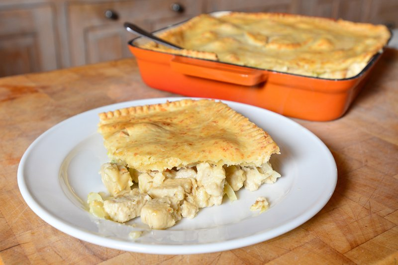 Quorn Chicken Style Pieces And Leek Pie Vegetarian