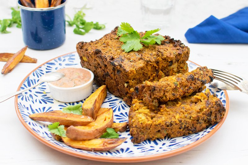 Quorn Moroccan Meatloaf with Creamy Harissa Dressing [vegetarian] by The Flexitarian