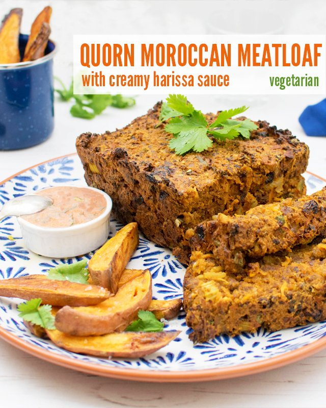 Quorn Moroccan Meat Loaf with Creamy Harrisa Dressing [vegetarian] by ...
