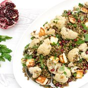 Roasted Cauliflower & Lentil Salad with Pomegranate Dressing [vegetarian] [gluten free] by The Flexitarian