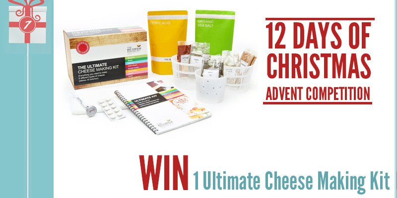 Advent Competition Day 7– WIN 1 Ultimate Cheese Making Kit from The Big Cheese Making Kit worth £36