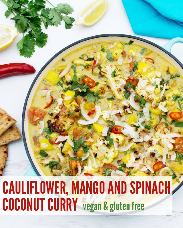 Cauliflower, Mango and Spinach Coconut Curry [vegan] [gluten free] by The Flexitarian