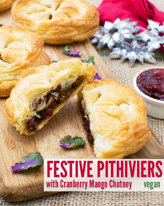 Festive Pithiviers with Cranberry Mango Chutney [vegan] v900