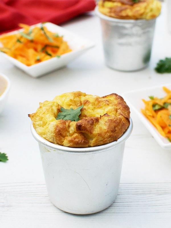 Leek Soufflés With Miso Dressing [vegetarian] by The Flexitarian