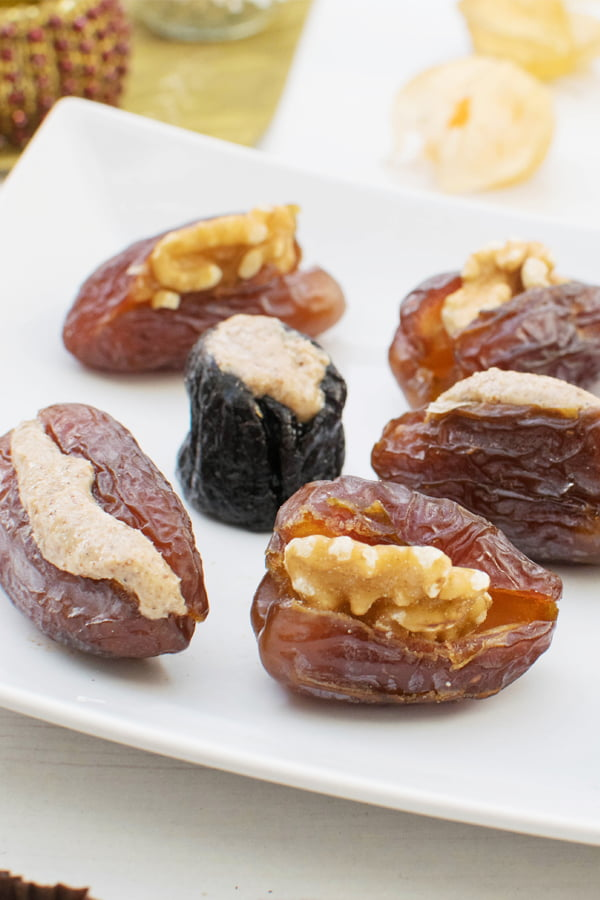Stuffed Dates & Prunes [vegan] [gluten free] by The Flexitarian