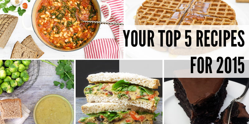Your Top 5 Recipes For 2015