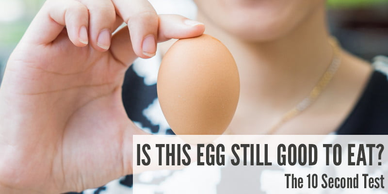 Is This Egg Still Good To Eat? The 10 Second Test