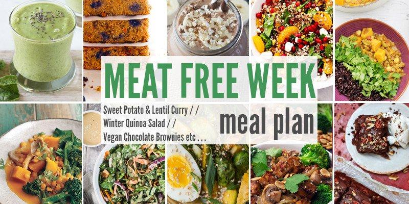 Meat Free Week Planner: Sweet Potato & Lentil Curry, Winter Quinoa Salad + Vegan Chocolate Brownies