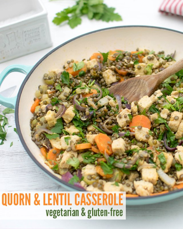 Quorn Lentil Casserole [vegetarian]  [gluten free] by The Flexitarian