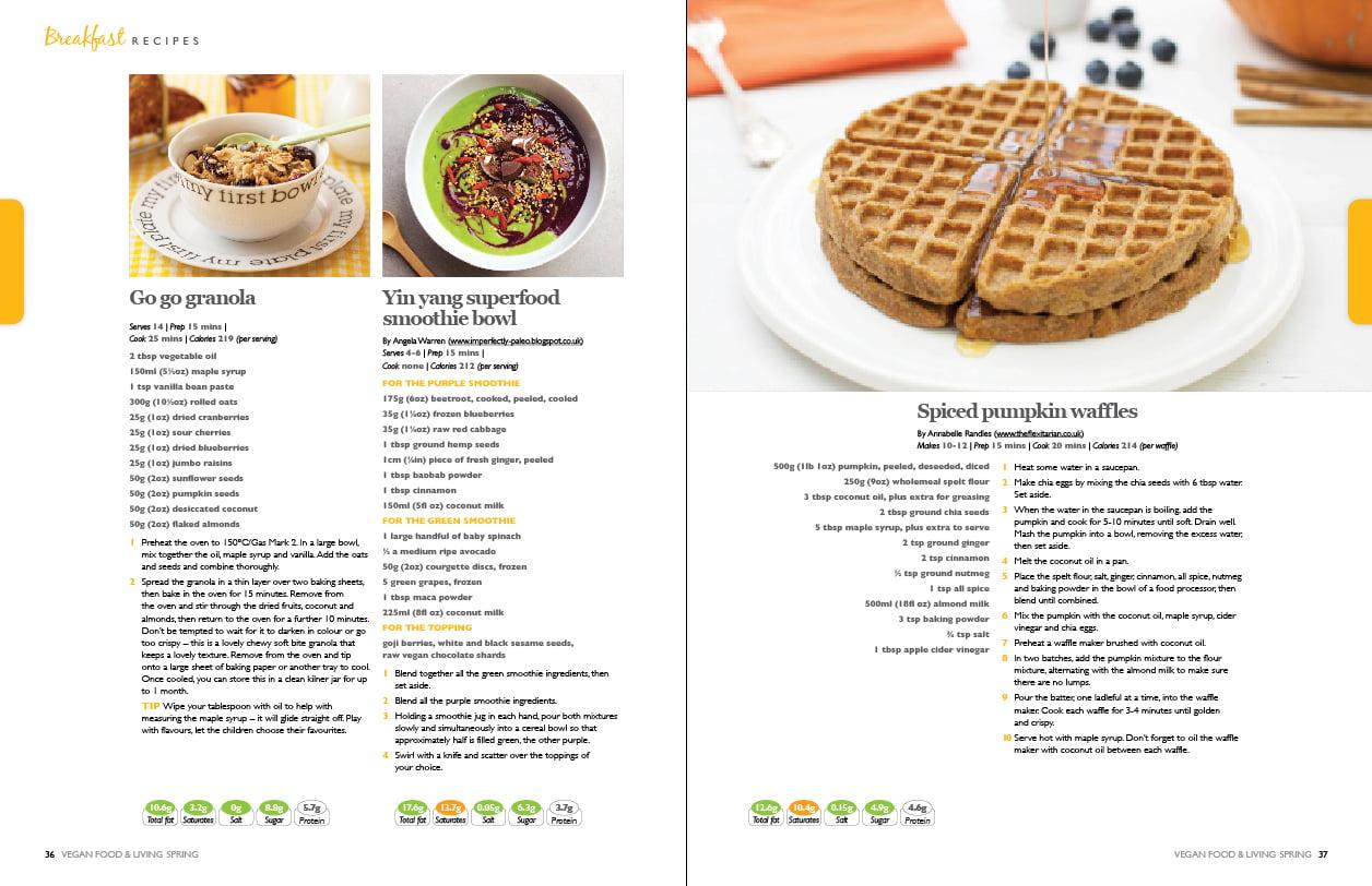 Vegan Food & Living Spread 1
