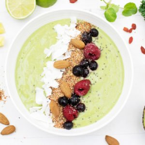 Green Avocado Smoothie Bowl [vegan] [gluten free] by The Flexitarian