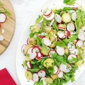 New Potato, Rocket and Radish Egg Salad [vegetarian] [gluten free] by The Flexitarian