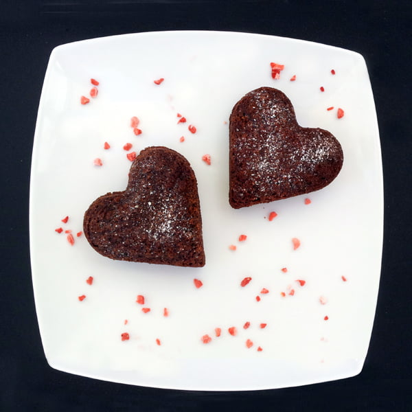 Double Chocolate Hearts [vegan] by The Flexitarian