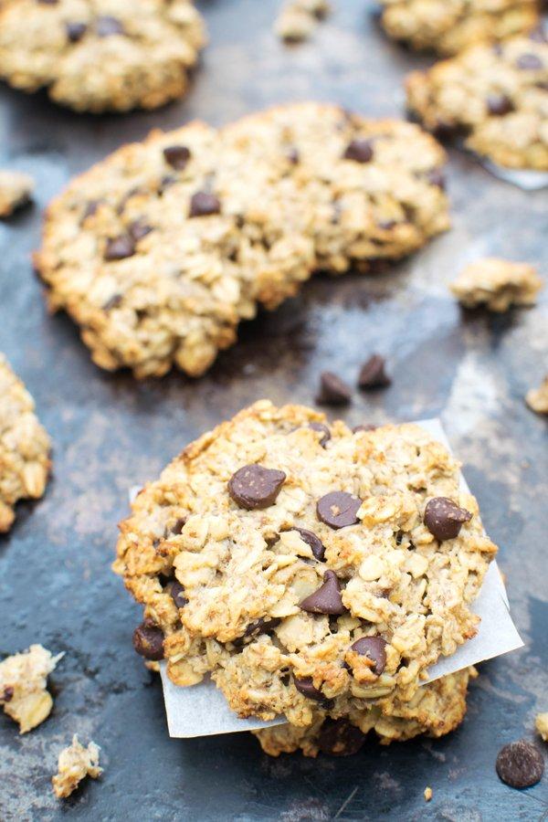 Chewy Banana Chocolate Chip Cookies Vegan Gluten Free