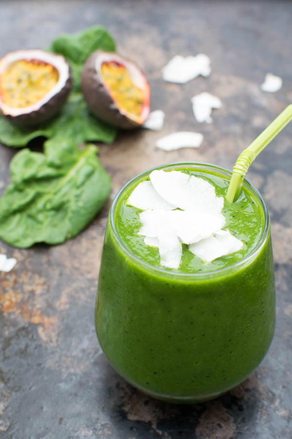 Deep Green Smoothie [vegan]  [gluten free]