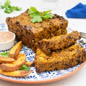 Quorn Moroccan Meat Loaf with Creamy Harrisa Dressing [vegetarian] by The Flexitarian