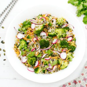 Broccoli Brown Rice Asian Salad [vegan] [gluten free] by The Flexitarian