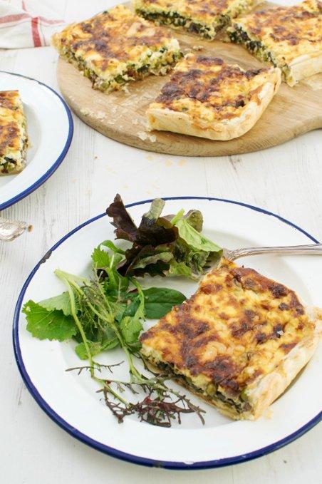 Pea & Spinach Feta Quiche [vegetarian] by The Flexitarian