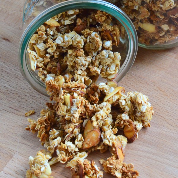 Vanilla Almond Agave Granola [vegan] [gluten free] by Katie's Cucina