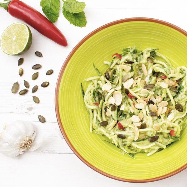 Creamy Avocado & Courgette Salad [vegan] [gluten free]
