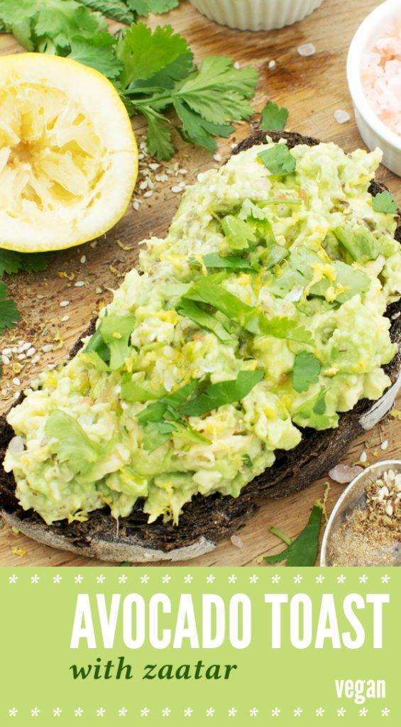 Avocado Toast With Zaatar [vegan] by The Flexitarian