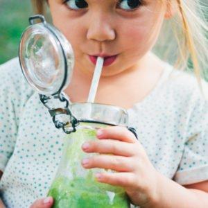 Kids Greenie Smoothie [vegan] by Green Kitchen Stories