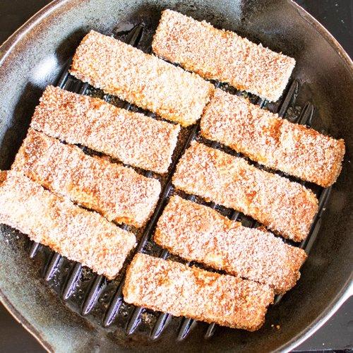 Smoked Amp Spicy Breaded Tofu Strips Vegan