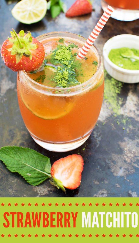 Strawberry Matchito [vegan] by The Flexitarian
