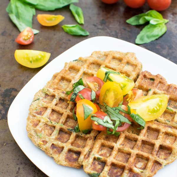 Einkorn Courgette Waffles [vegan] by The Flexitarian